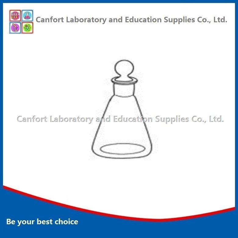 CONICAL FLASK, ground-in glass stopper, boro 3.3