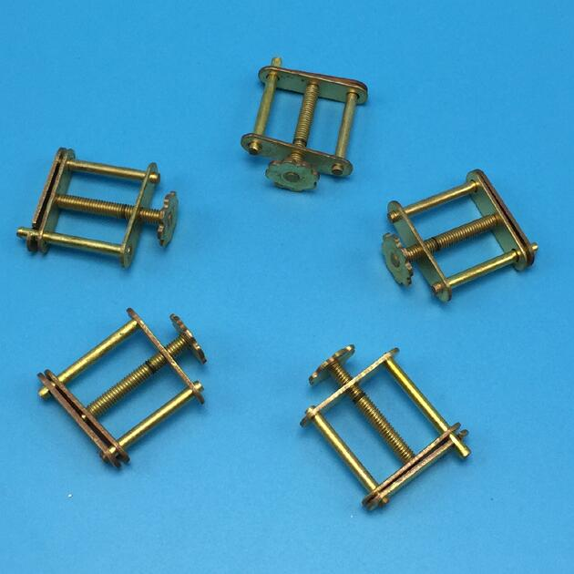 Hoffman clips, tubing clips (brass)