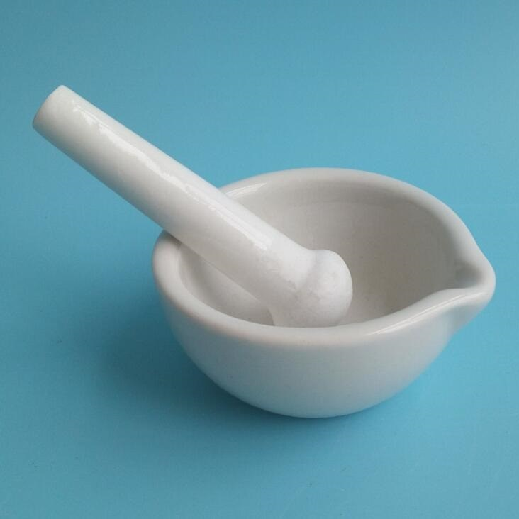 Porcelain mortar and pestle